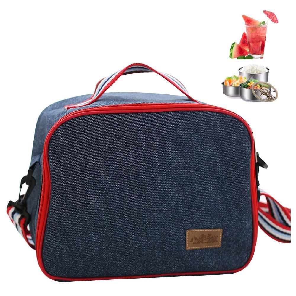 Lunch Box Insulated Bag For Men Women Meal Prep Tote Bo Kids S Backpack Round Oxford Cloth Insulation Package Picnic Ice Pack