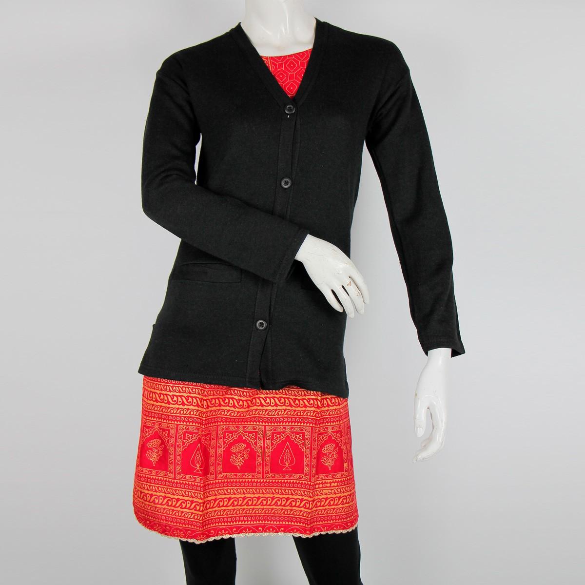 Cut Price Women Sweaters Cardigan Full Sleeves Night Black