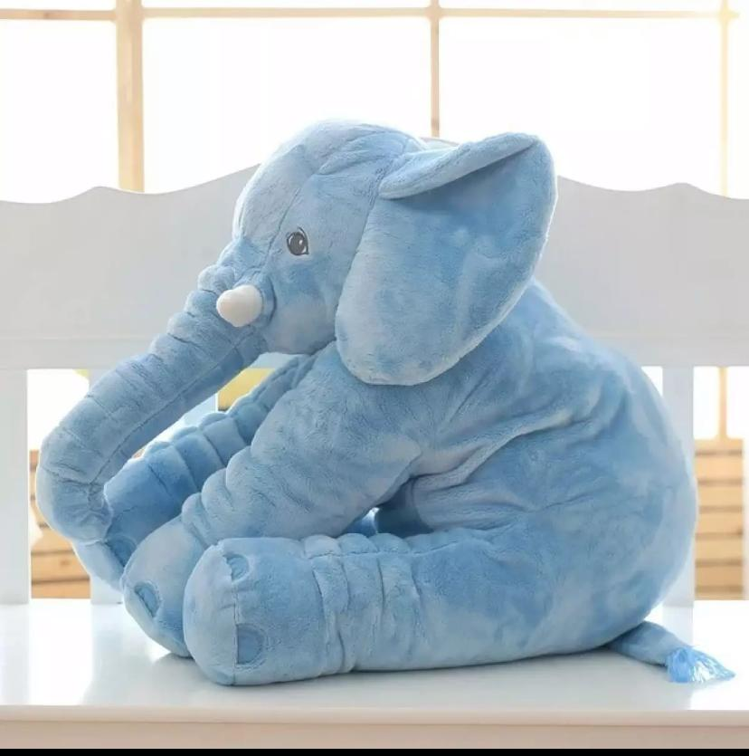 Creative Cute Elephant Large Size Stuffed Animal Plush Toy Baby Seats Baby Bed Toy Children Playing Cushion Baby Seater Baby Sleep Partner Baby Bed Toy Toddler Nest Puff Cartoon Soft Babies Toys For 0 - 10 Years - Pillow Doll Best Baby Gift Birthday Gift