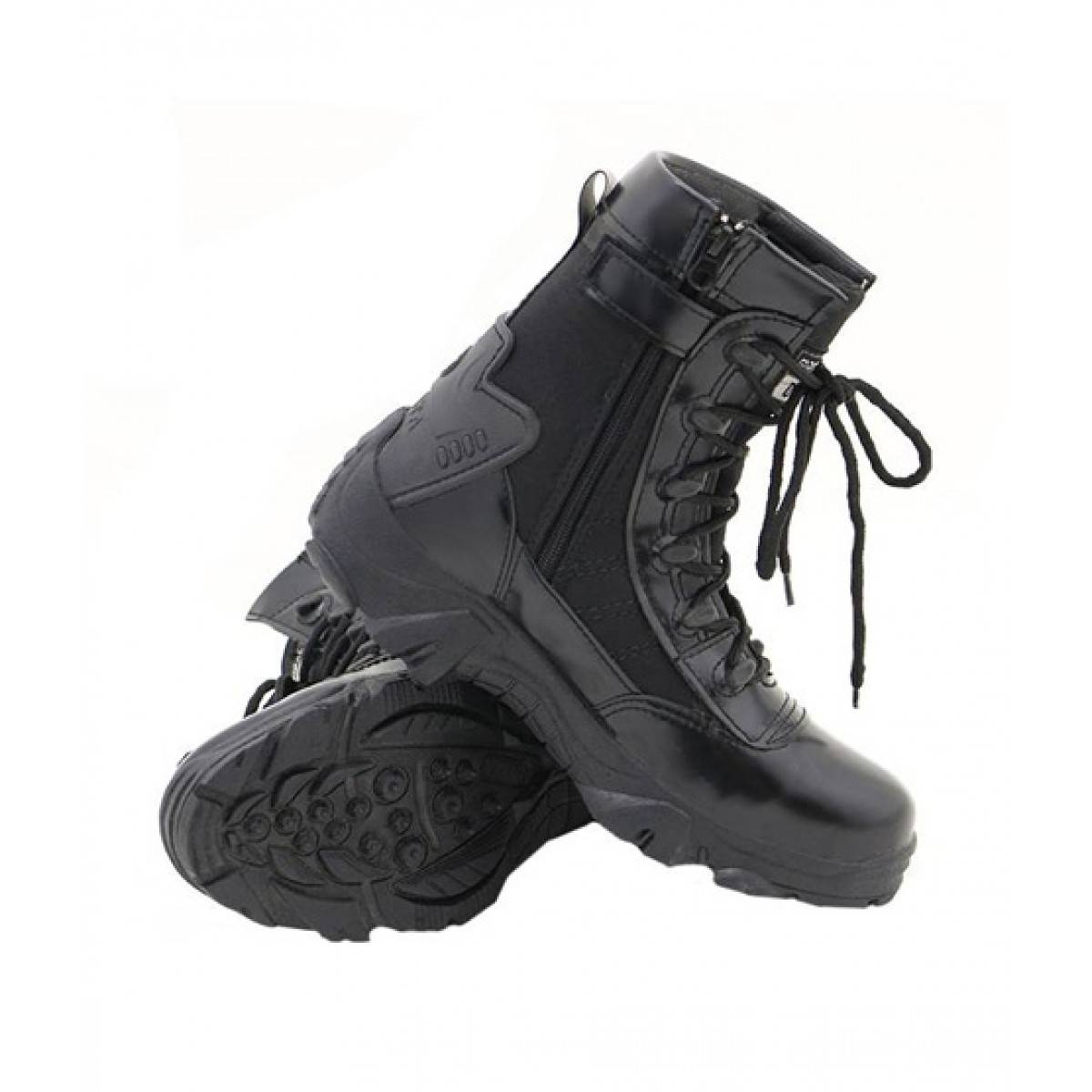 Black Long Army Ankle Boot for Men