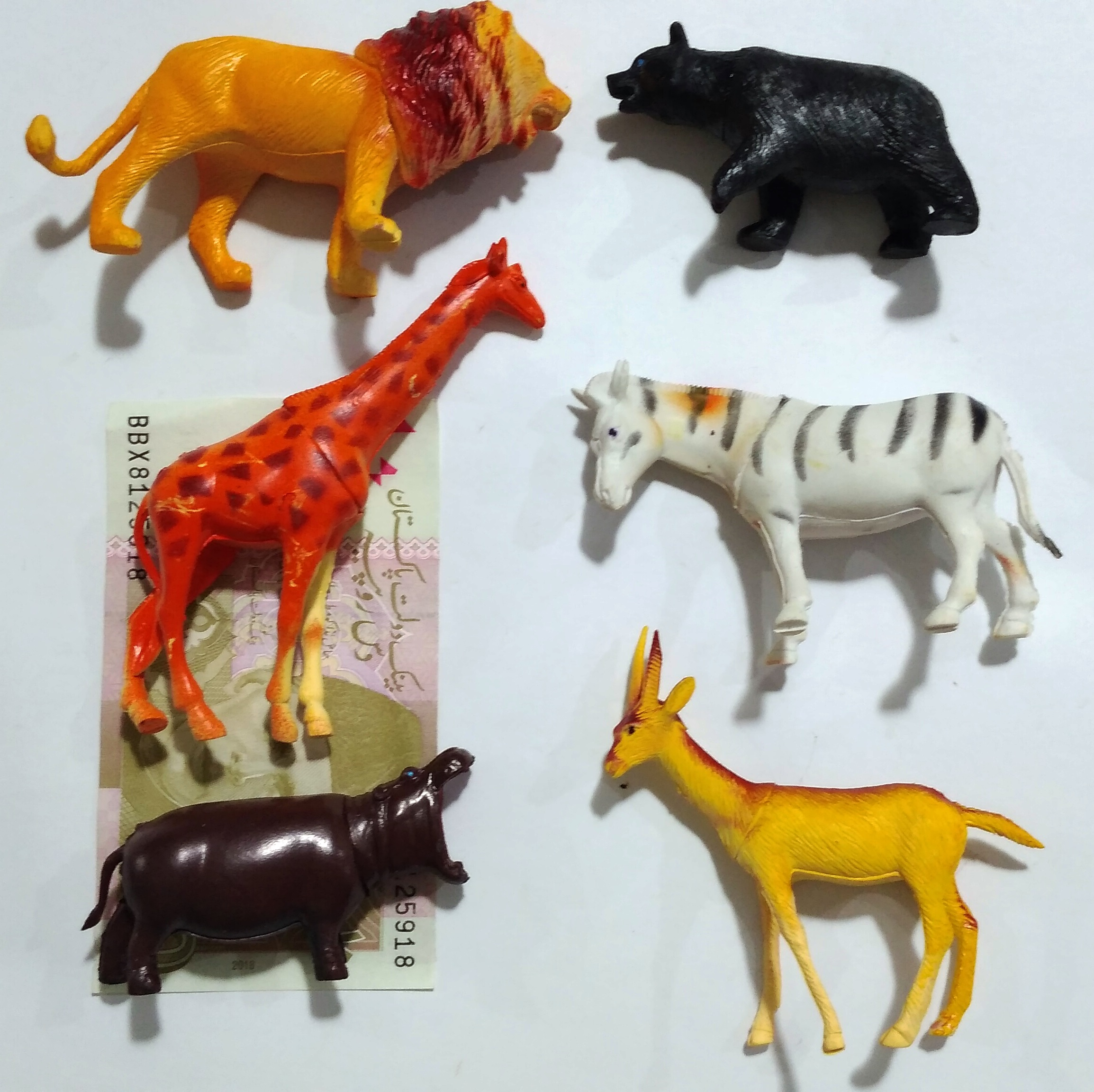 Kids Toys Farm Animals Wild Animals 6 Pieces of 4 inches or 6 inches