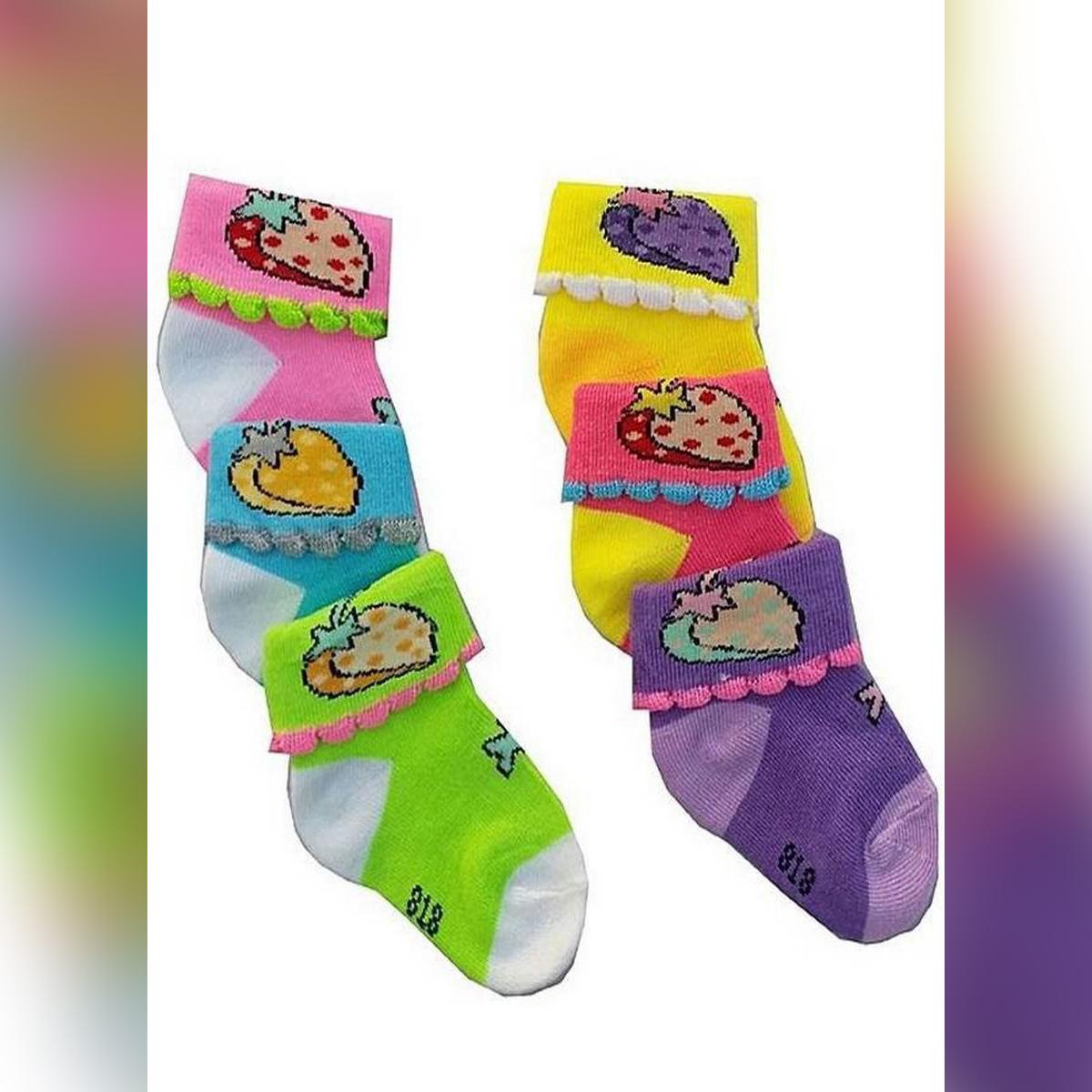Pack Of Pair Of 6 New Born Baby Socks