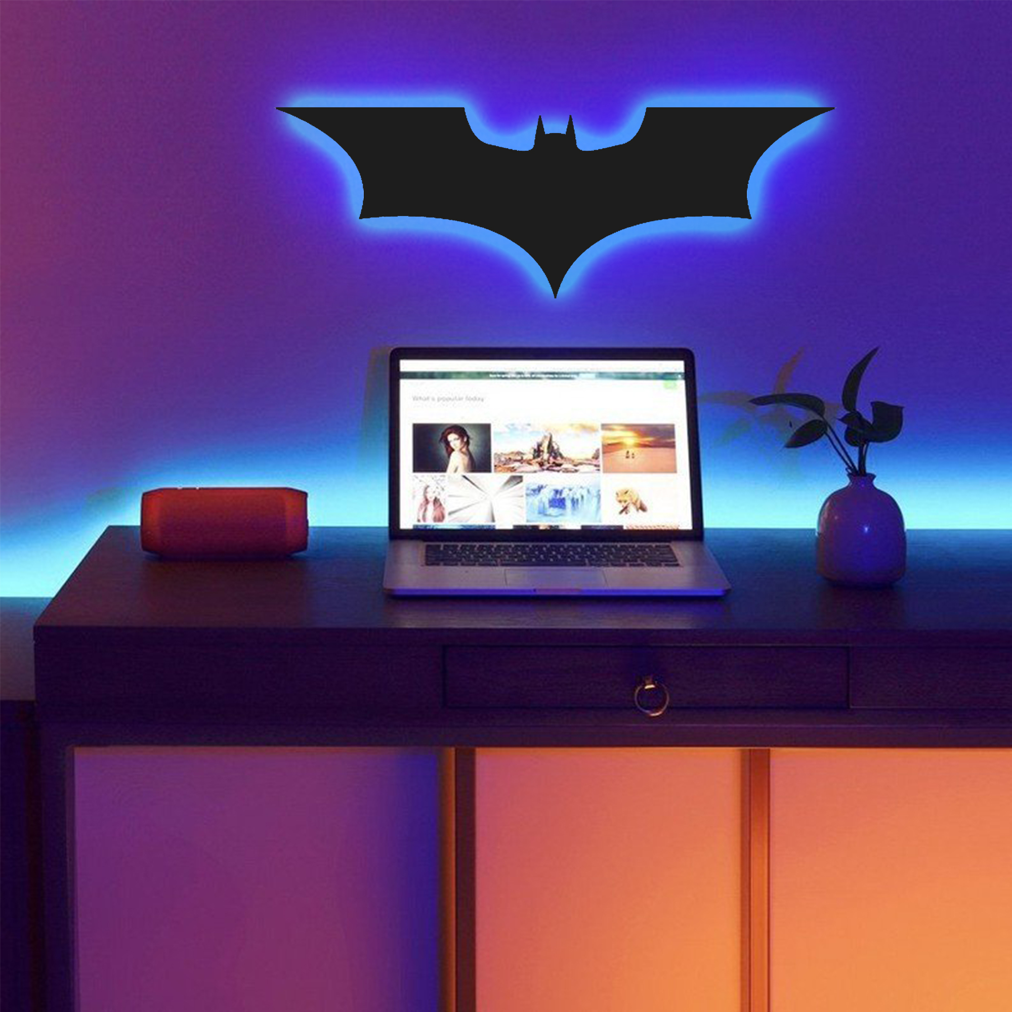 3D Batman Led Wall Lamp - Gaming Decor - Aesthetic room decor - Color Black