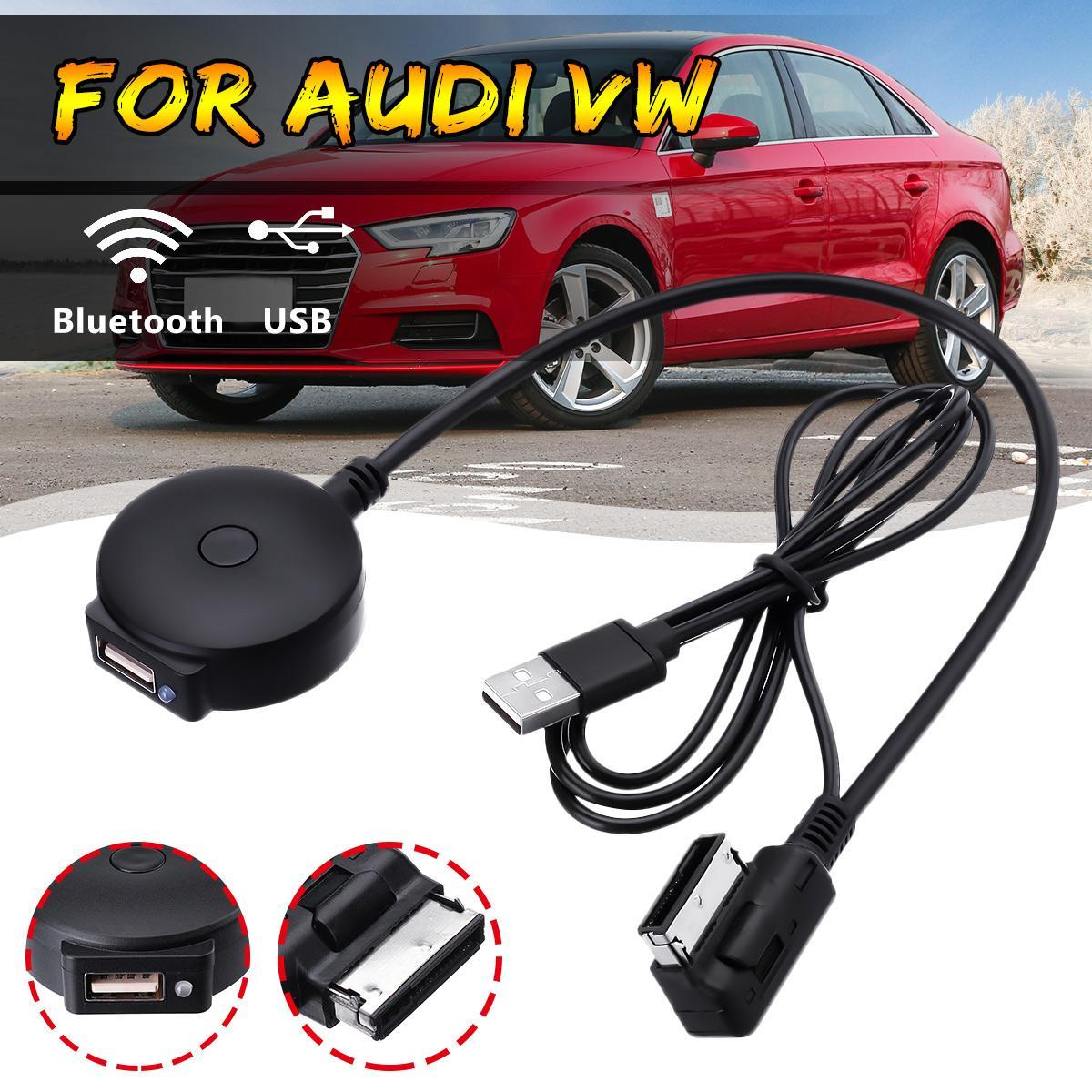 Audi VW Bluetooth Music Streaming Kit iPod Media Interface Cable MMI