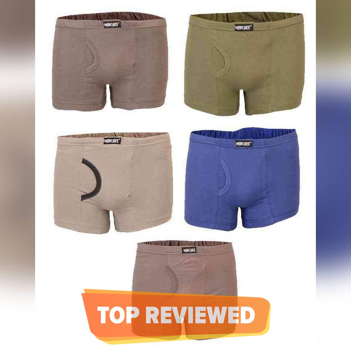 Mancare Pack of 5 Pure Cotton Underwear for Men - Multicolour