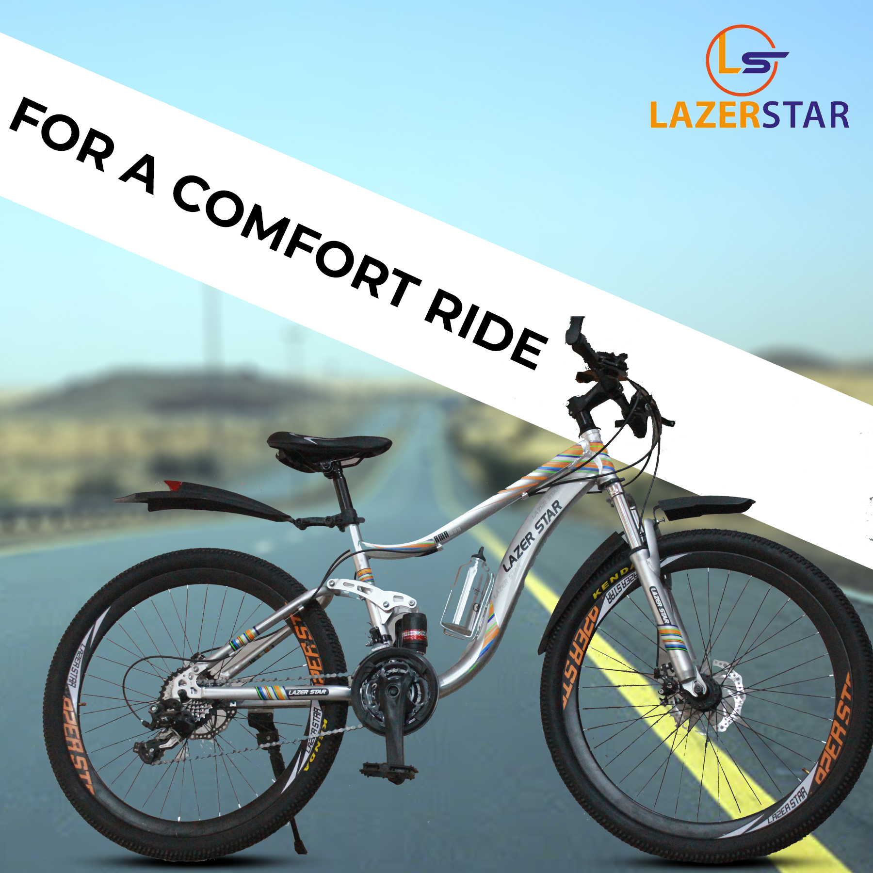 Bikes 26 inches  Fiber Alloy  RIM Tire Disk Brake System Adjustable Seat water Bottle Alloy Light Weight Mountain & Road Bike for 14 to 40 years