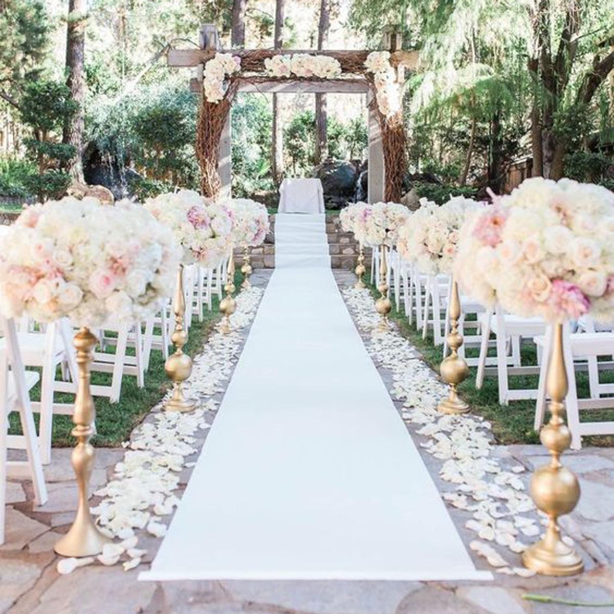 1 2m X 10m White Carpet Aisle Runner Wedding Party Event Decoration Mats Rugs