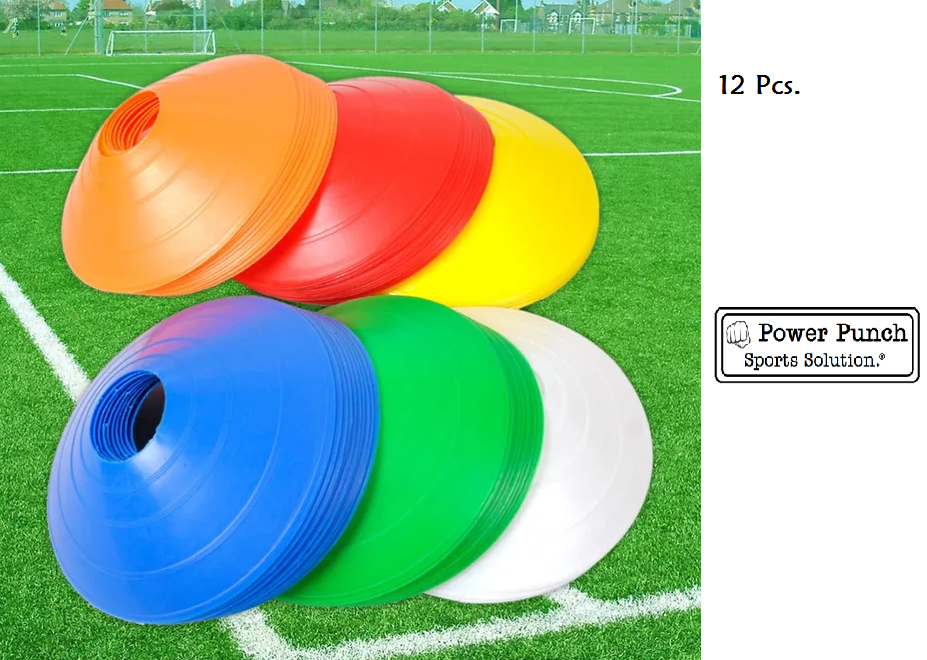 football training marking 12 Pcs Football Training Cones Hockey road safety goal keeper shin space marking