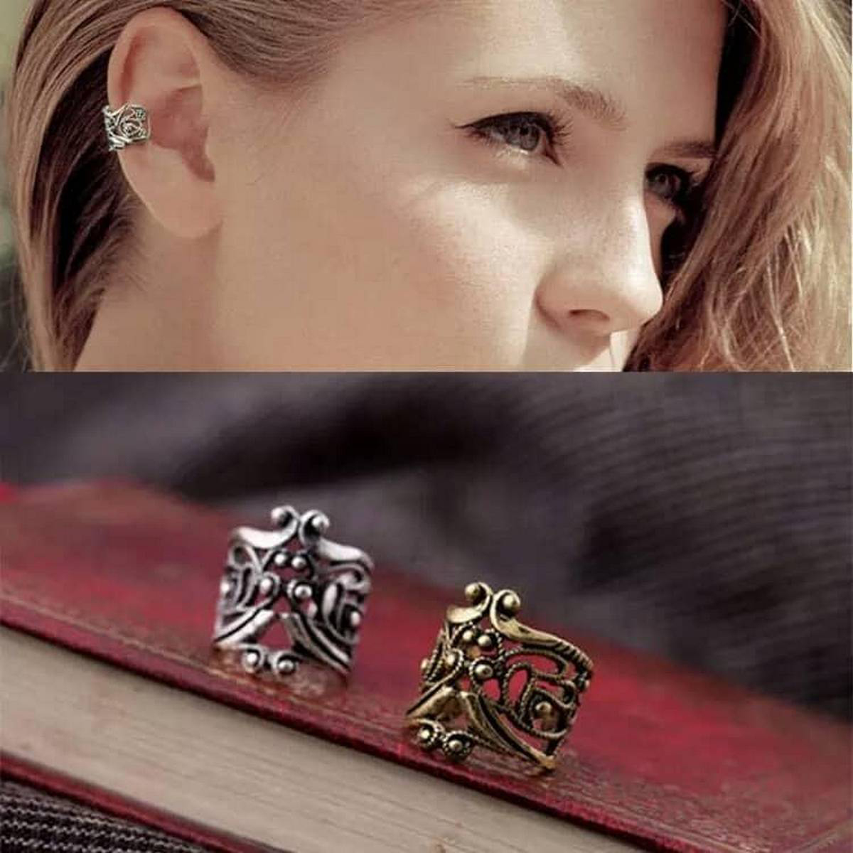 Antique Ear Cuff For Girls & Womens Fashion 1 Pc Silver