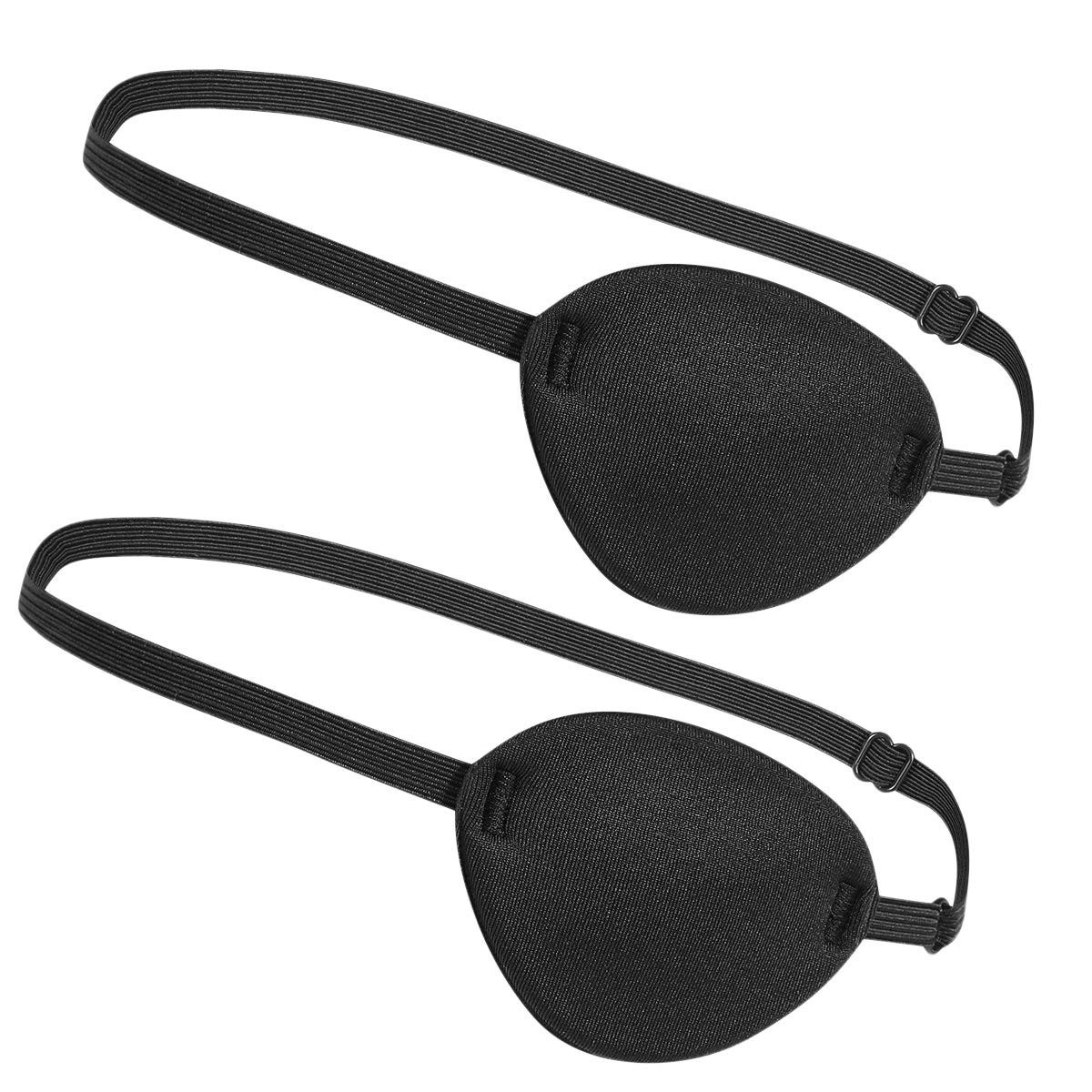2 Pc supreme Quality Single Lazy Eye Patch Soft One Eye Patch Single Eye Mask   For Children or Adults  Great Pirate Costume Women or Men