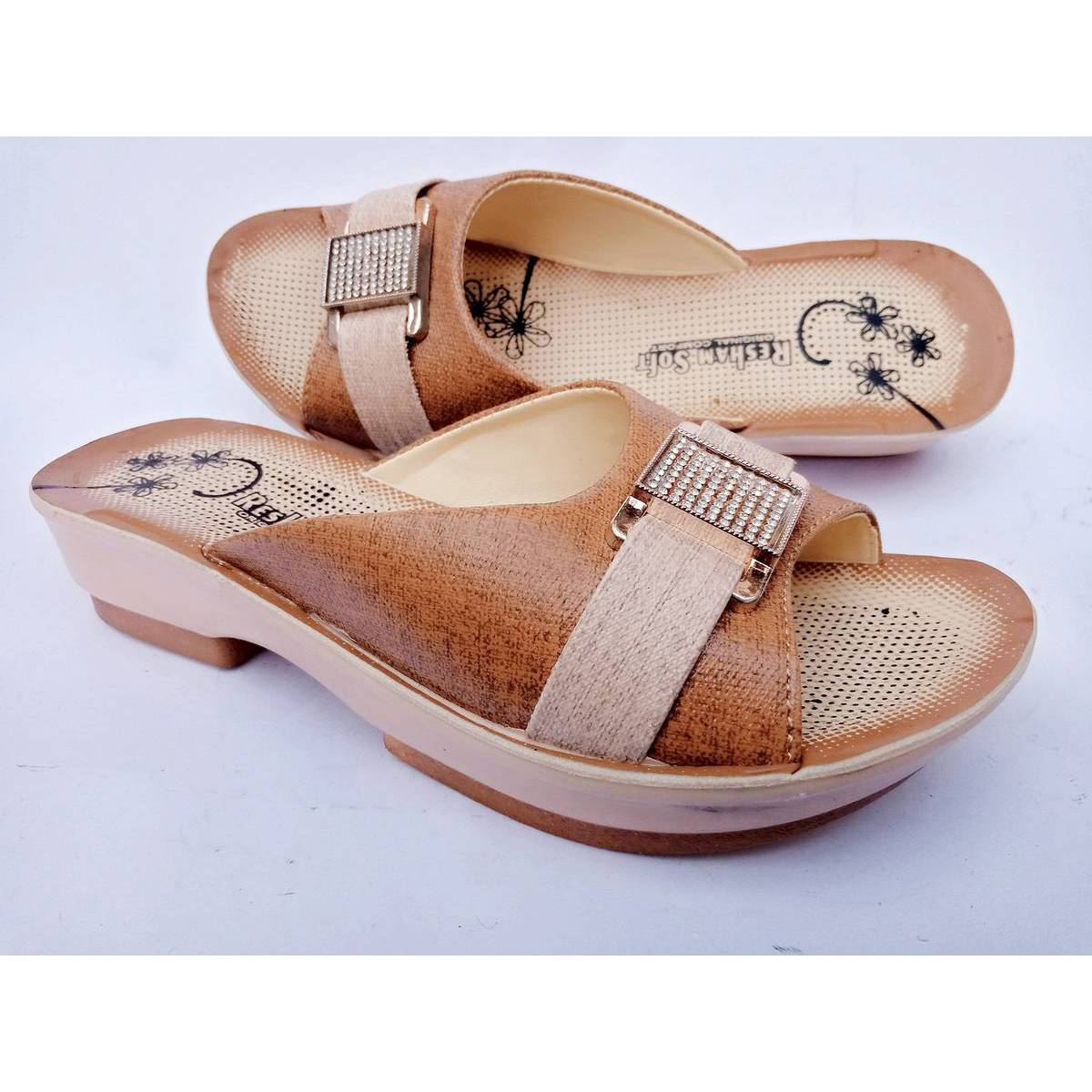 Synthetic Leather Slippers For Women - Slippers / Sandals - Quality and Comfortable