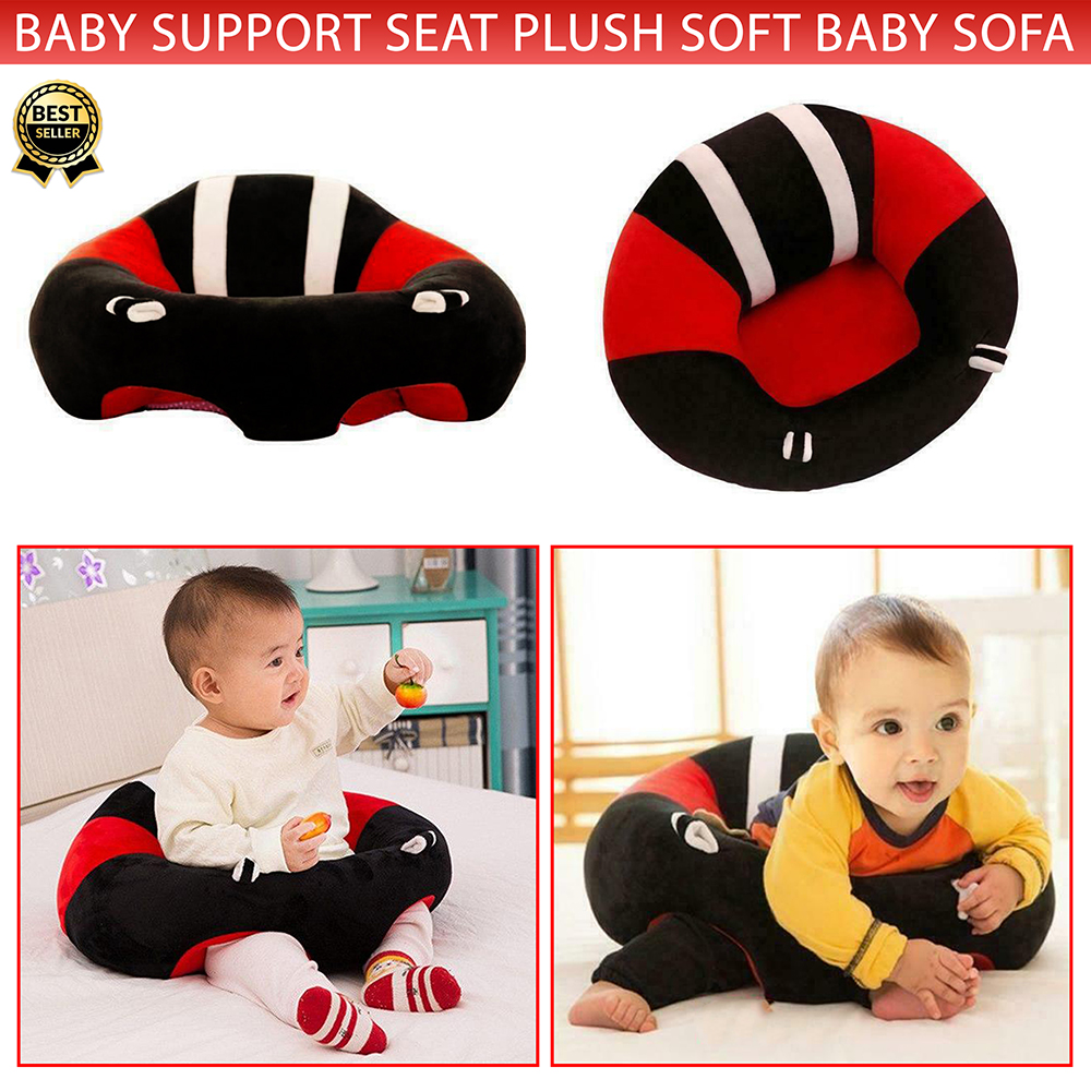 Baby Stuffed Floor Support Seat Anti-fall Sofa Infant Seat Easy Carry Learning Seat Sitting for Pillow Chair Cushion Bouncer Sitter Seat Feeding Plush Play Cute Animal Seats Play Cotton Nest Puff Safety Chair Soft Toddler Toy Babies Toys with Two Holes