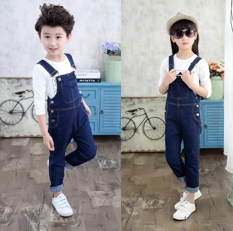 Gorgeous Denim Navy blue baby jeans romper unisex dungaree