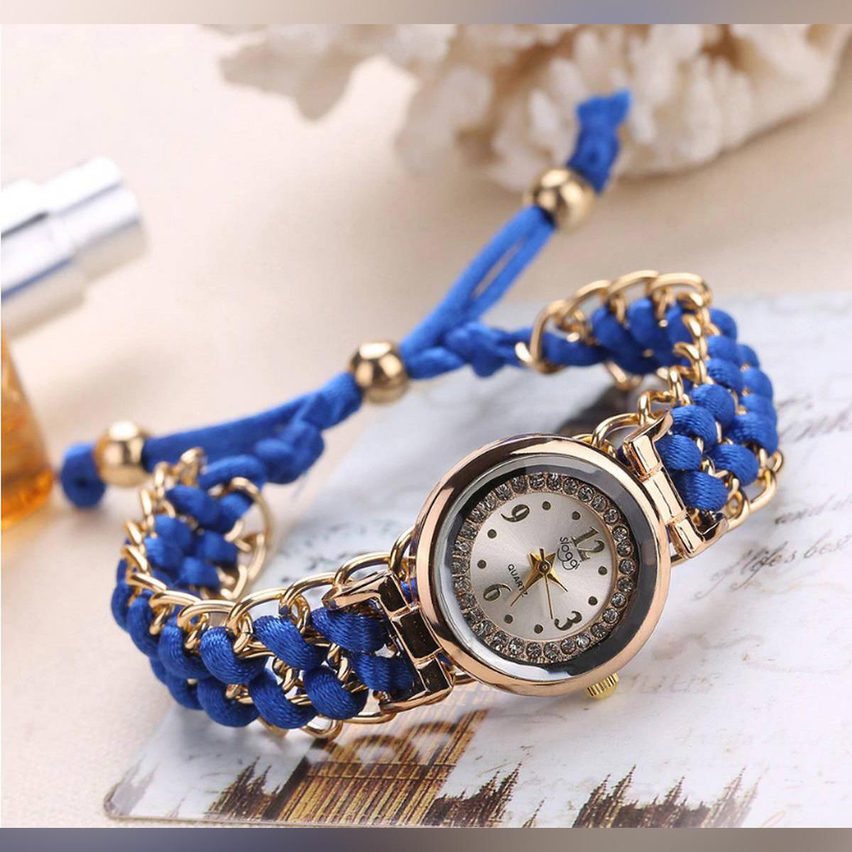 Luxury Bracelet knitting rope Watch For Women.