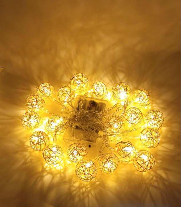 Led 20 Round Shaped Fairy String Light for Decoration Parties Warm White