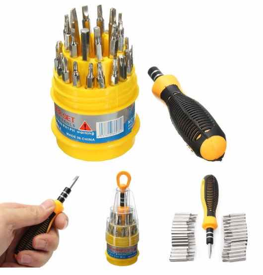 new 31 in 1 Screwdriver Set Mechanic Repair Tool Kit for Cell Phone,Watch,Laptop Etc