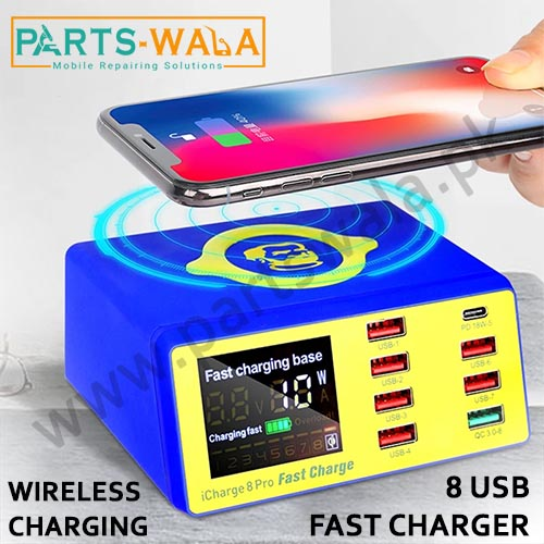 Mechanic 8 pro Icharge 8 USB Fast Charger With LCD Display For Mobile Charging