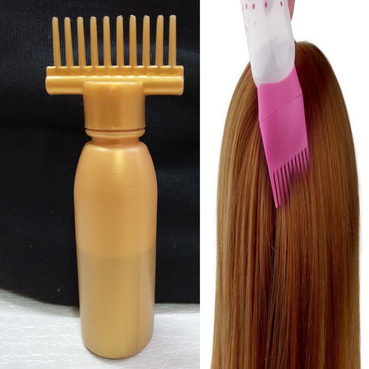 180ML Plastic Dyeing Shampoo Bottle Oil Comb Hair Tools Hair Dye Applicator Brush Bottles Styling Tool Hair Coloring use for multipurpose(1doller shop)