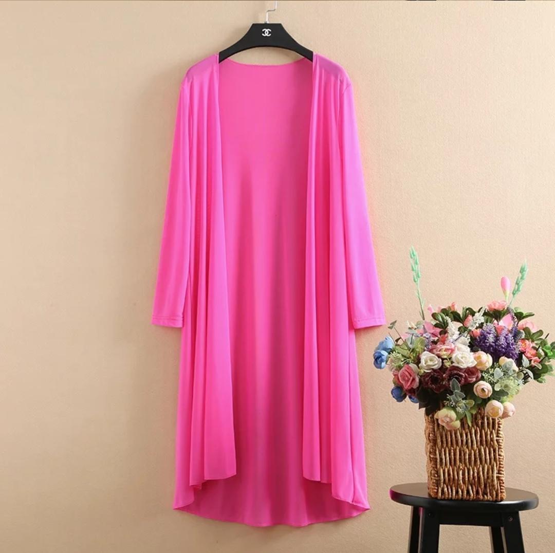 Pink Long Shrug For Women