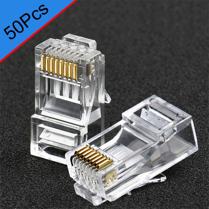50pcs RJ45  Crystal Connectors Cat 6