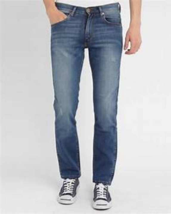 Fashion Avenue Blue Denim Faded Jeans For Men