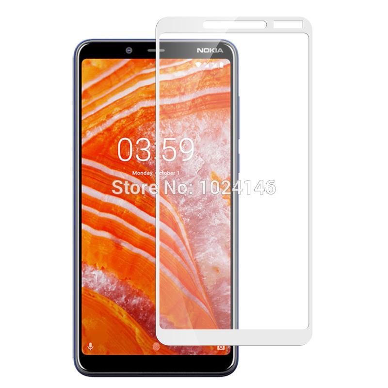 9D Tempered Glass Screen Full Protection Edge to Edge For Nokia 3 1 Plus -  White