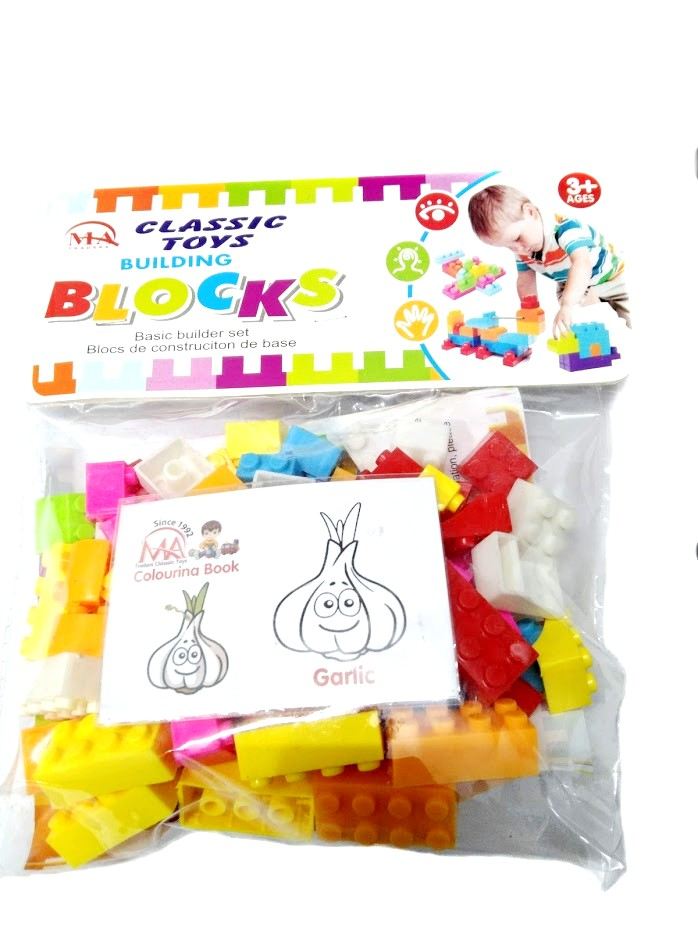 Building Blocks Puzzle Toy For Kids/Boys/Girls - Construction Learning Building Blocks 74 Pieces Set Toys