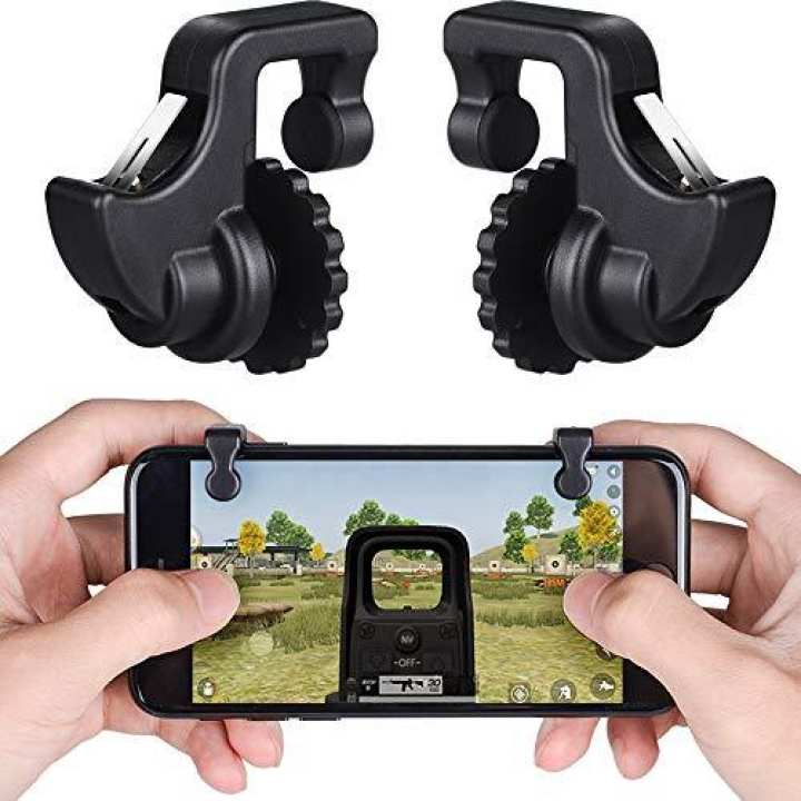 PUBG Mobile Game Controller/Trigger Shoot Aim Joysticks Buttons with Phone Holder, Support iOS/Android Smartphone