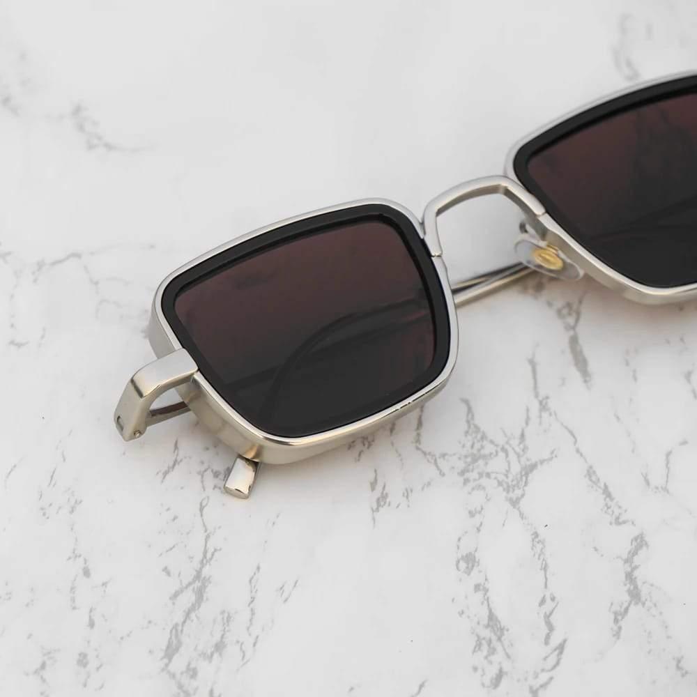 Original Kabir Singh Sunglasses in Metal Frame for Men - Shahid Kapoor UV400 Polarized Glasses with Box