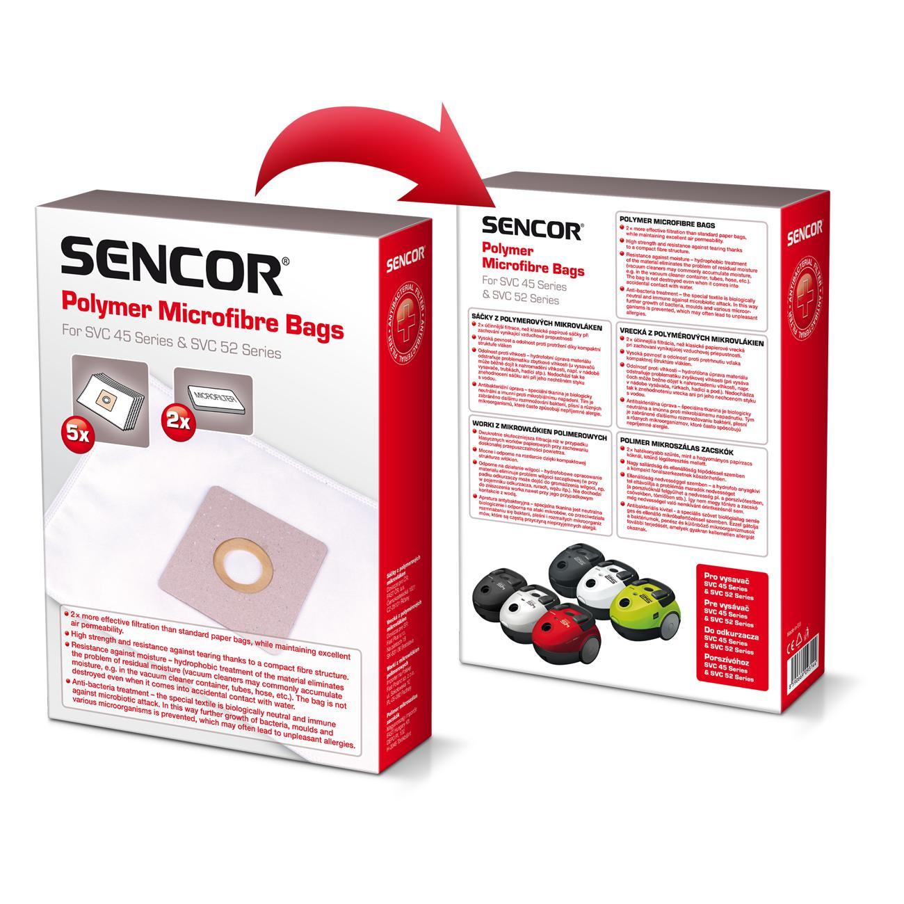 Sencor Micro fiber bags SVC 45/52