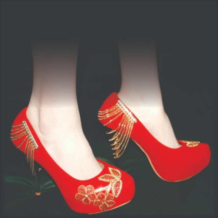 Ladies high heel bridal shoes