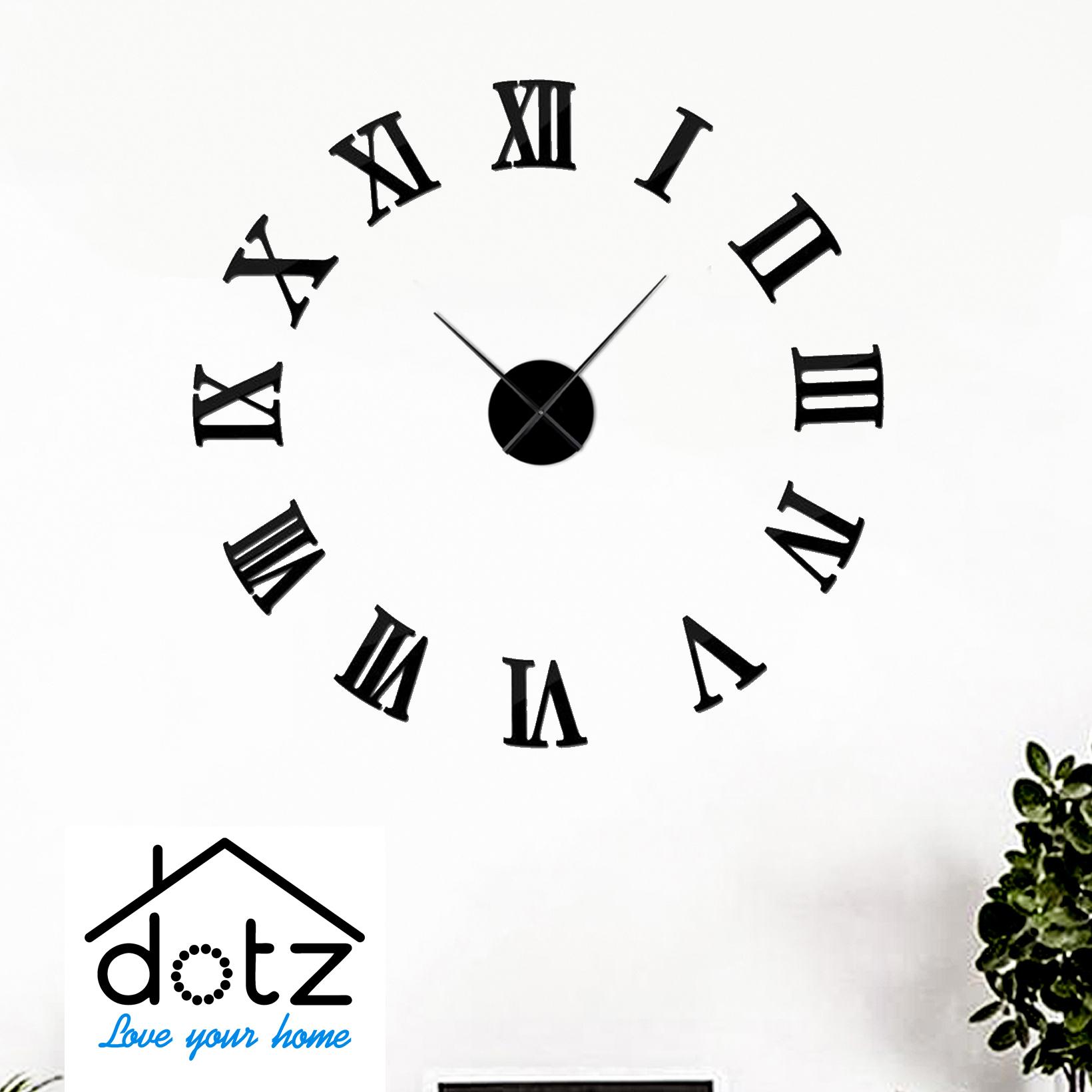 Wooden diy wall clock-roman digits 3D wooden clocks-diy wall clocks-clocks for office and home-wall decore clock-dotz brand clock