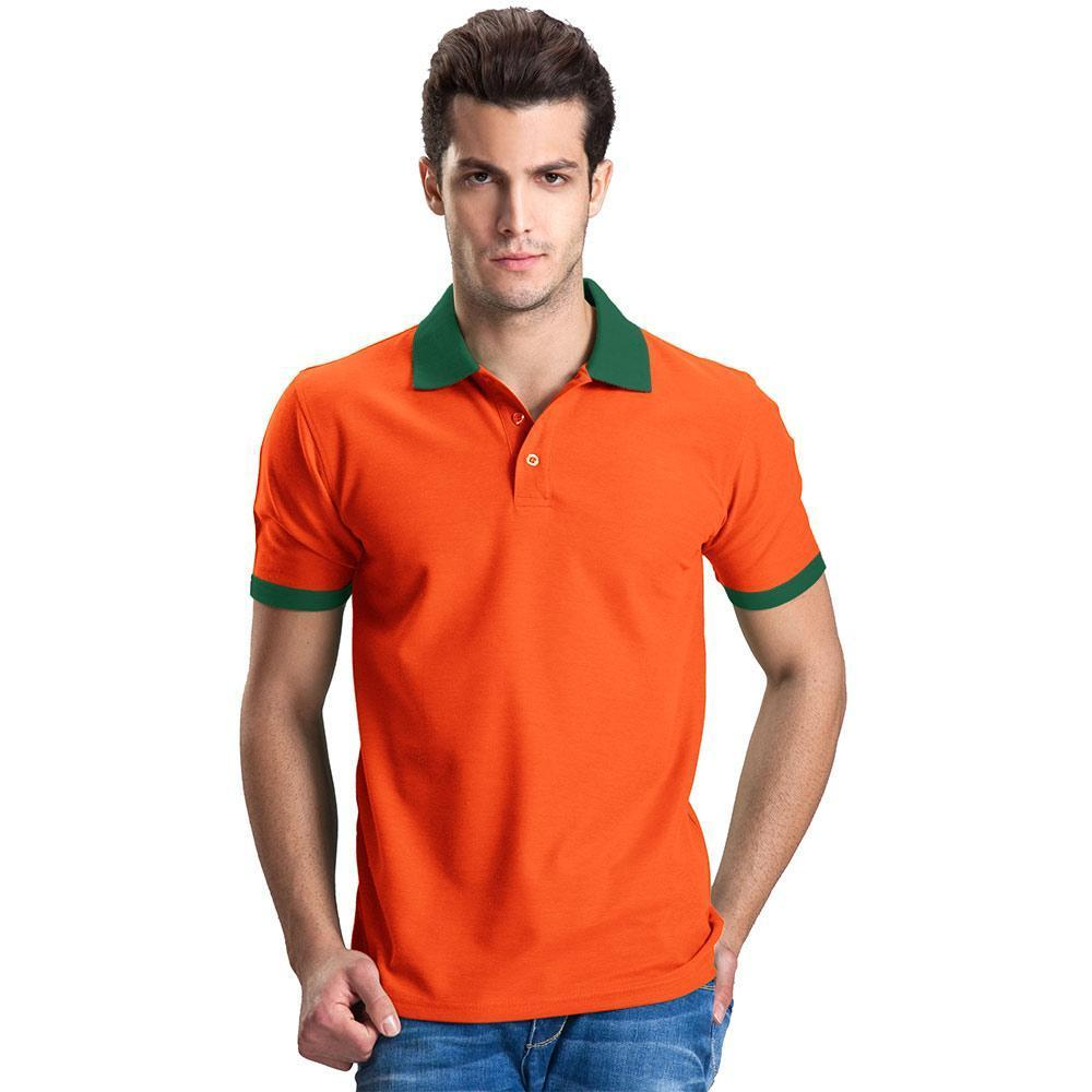 d99e38b5 Polo Republica - Lausannois Polo Shirt - Orange & Bottle Green