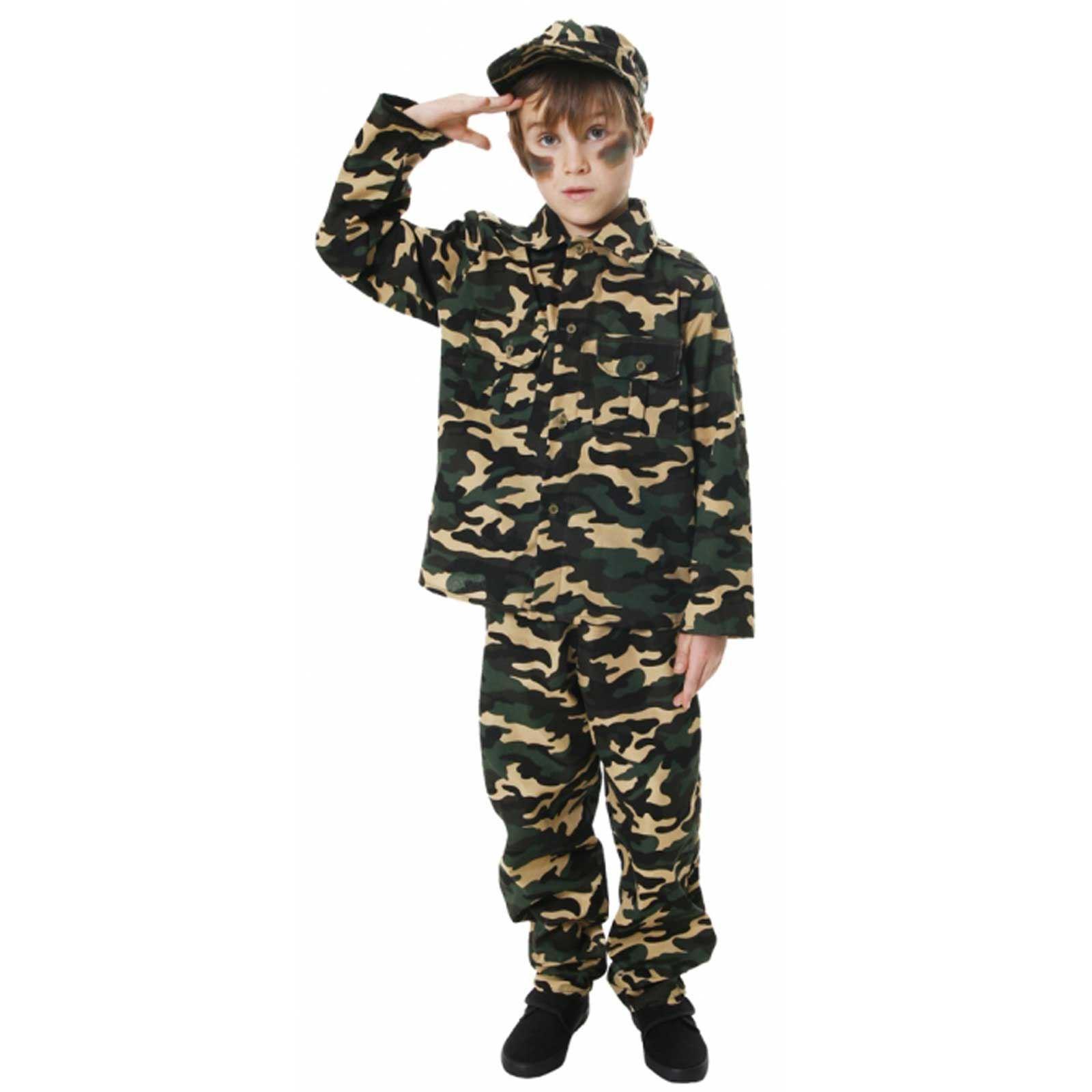 Army Commando Uniform Dress Costume for Kids