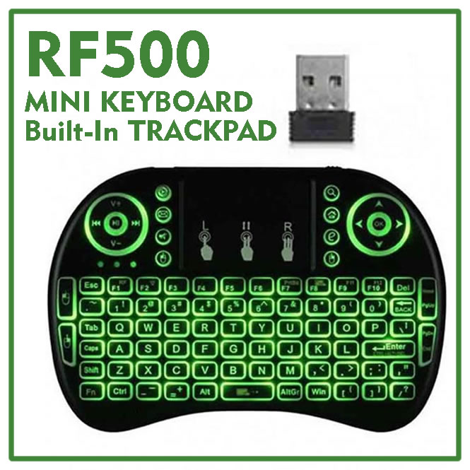 Wireless Keyboard For Android TV Box / Smart TV / PC - Lighting Mini Key Board with Trackpad