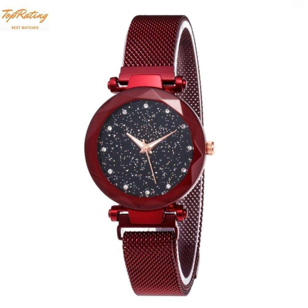 New Starry Sky Watch Magnet Strap Buckle Stainless Steel Women Female Student Girls Gift