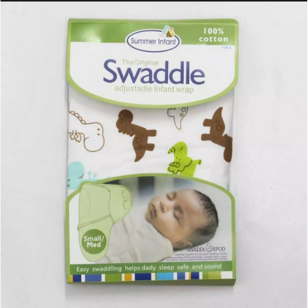 High Quality Super Soft 100% Cotton Swaddle Me Swaddle Ultra Comfort Adjustable/ Swaddle Infant Baby Wrap / Baby Swaddle Wrap/ New Born Baby Swaddle Wrap Swaddle Wrapping Sheet Baby blanket