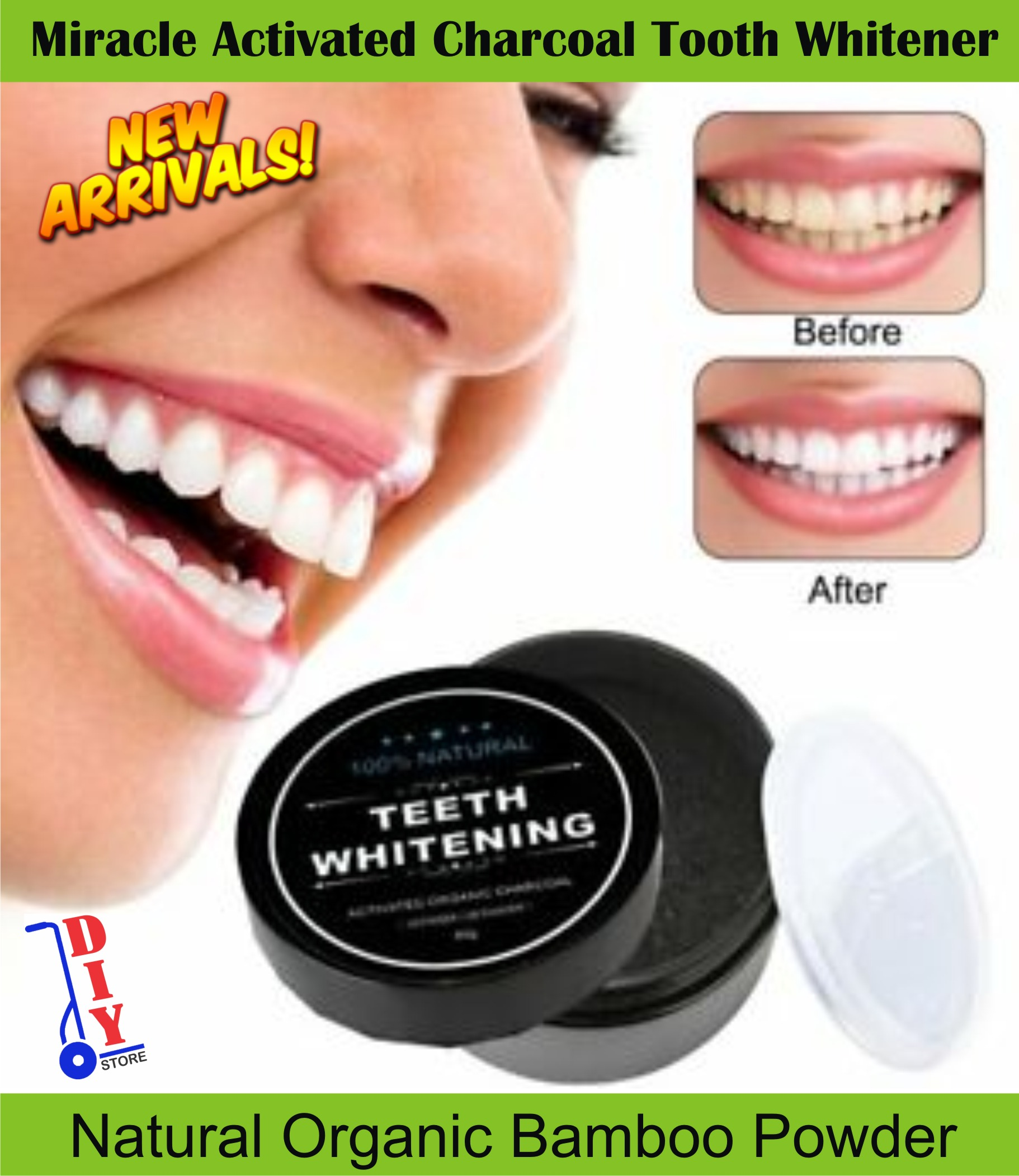 Oral Hygiene Teeth Whitening Cleaning Activated Bamboo Charcoal Powder