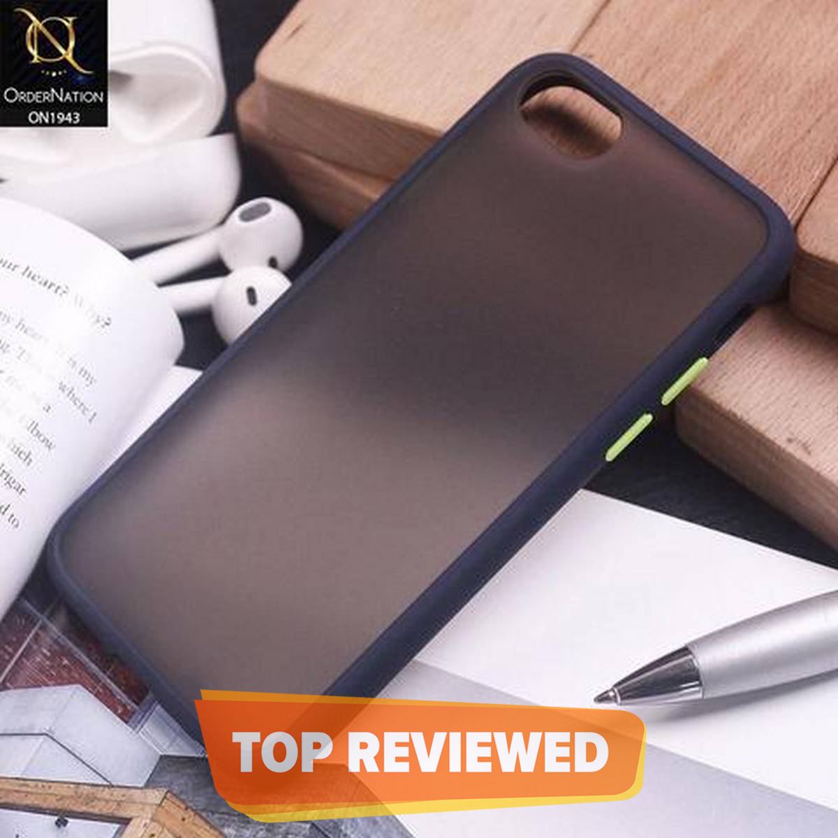 IPHONE 7 , 8 Plus Colorful Bumper Shockproof Soft Frame Translucent Hard PC Cover
