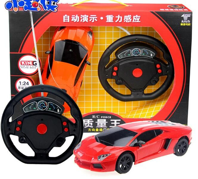 Boy toys 1:24 4CH rc car model baby toys 4 channels remote control car micro racing cars kids toy gifts