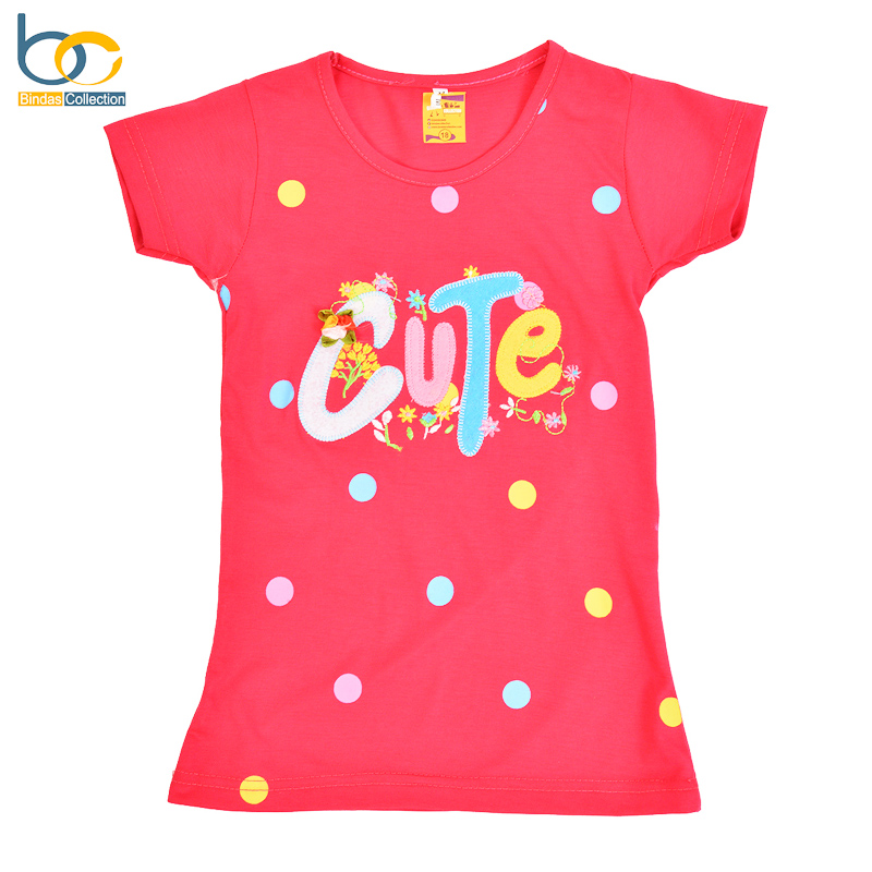 Cute Embroidered Top For Girls