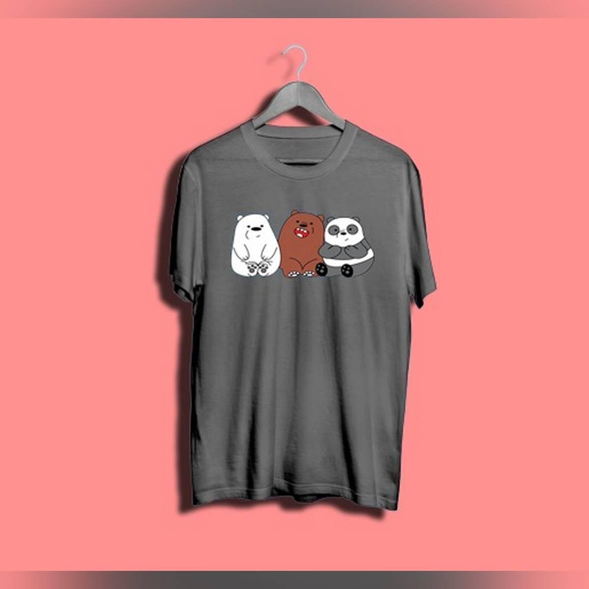 Three Bear Printed T Shirt For Girls