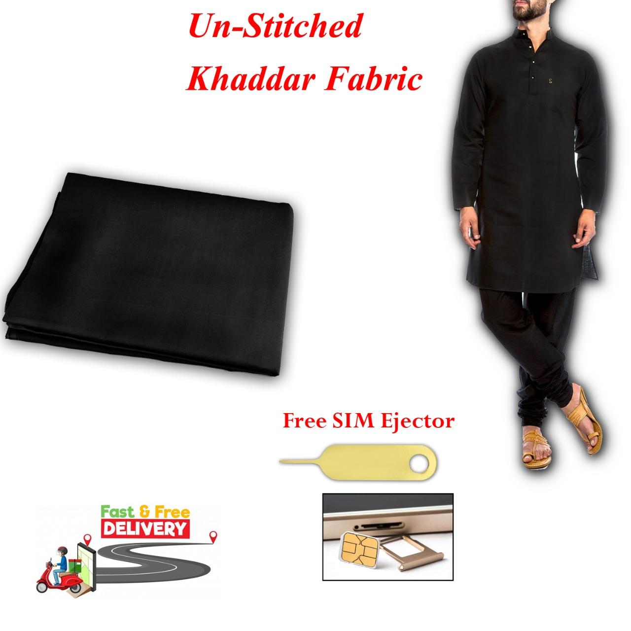 Special Summer Khaddar For Men - Black