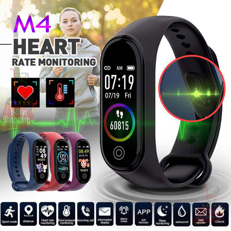 M4 Plus Smart Band New Smart Watch Fitness Tracker Smart Band Smart Bracelet Bluetooth Sport Intelligent Wristwatches Fitness Bracelet for Phones Call Reminder Top Multi function Touch Screen Smart Watch Wearable Motion Detection Device - M4 Smart Watch