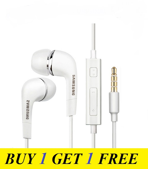 (BUY 1 GET 1 FREE) J5 High Quality Sound Handfree / Handsfree / Earphone / Headphones/ Headset for All Type of Mobiles & Laptops(White)