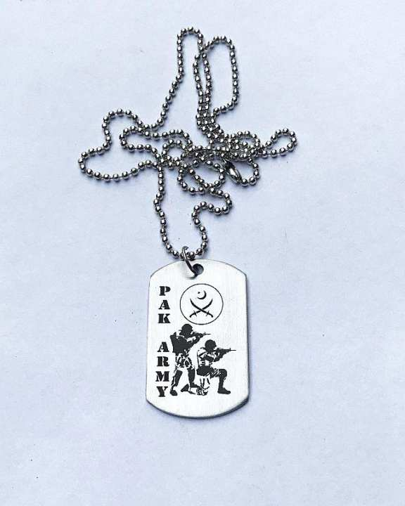 Pakistan Army Stainless Steel Tag Pendant