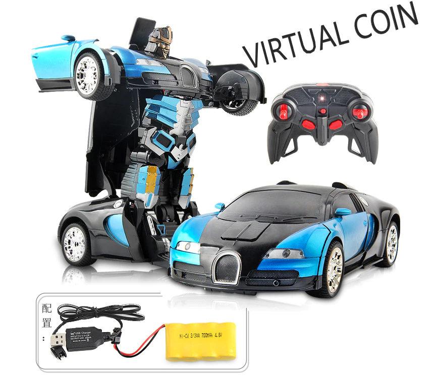 Rechargeable Robot Remote Control RC Car Transformation Robot Car Kids Toy 2 In 1 Package Robot + Car With Rechargeable Batteries Premium Product