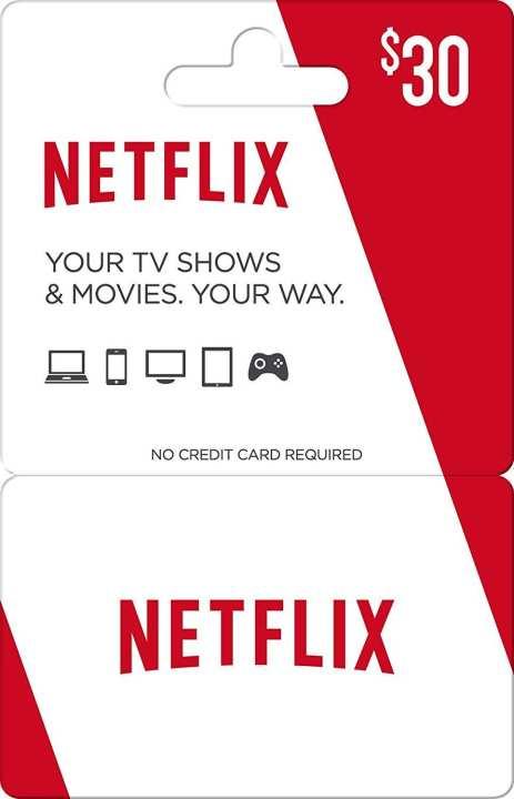 Netflix Gift Card $30 US Region - Digital Code