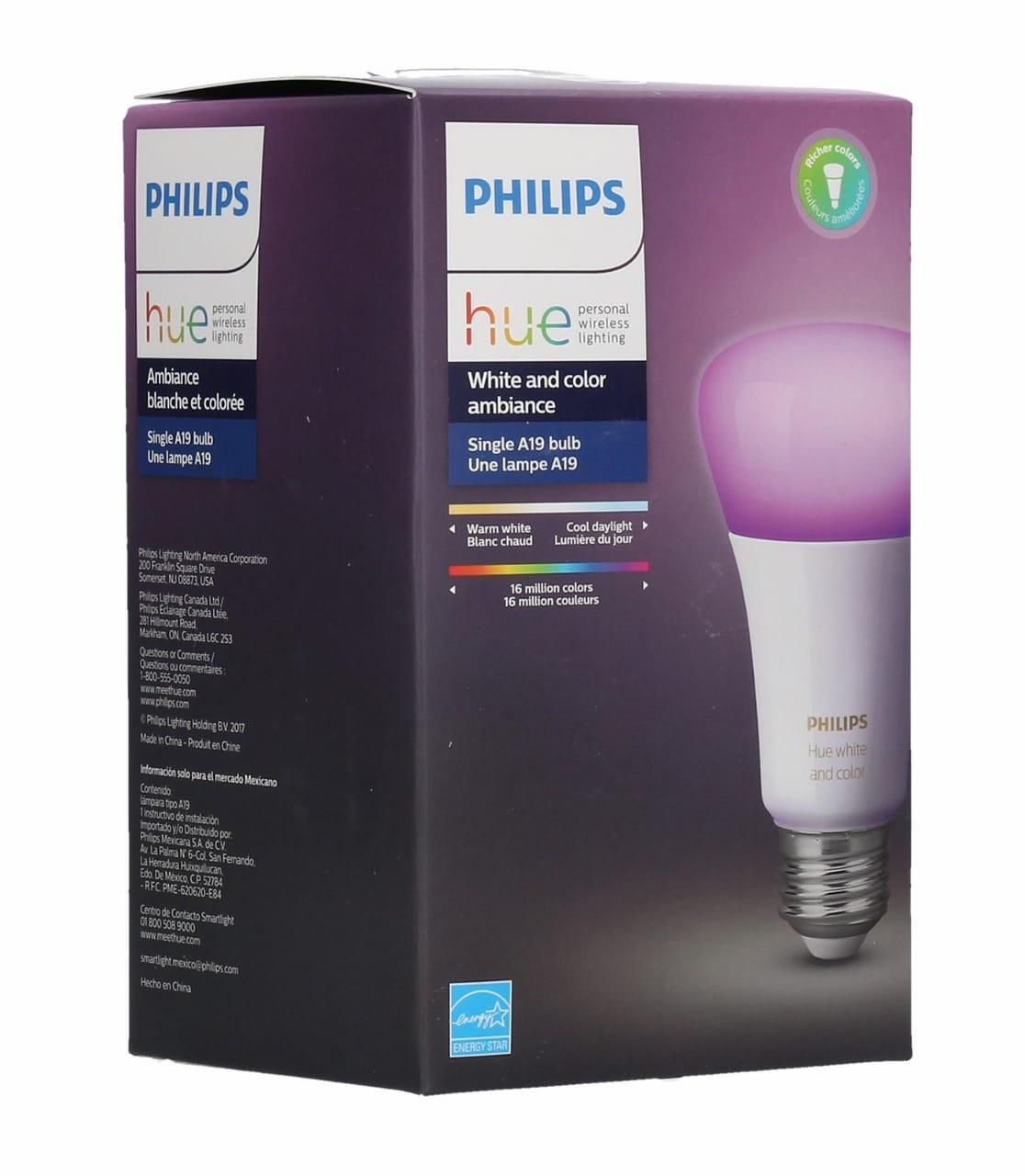 Philips hue white and color a19 led bulb 3rd generation