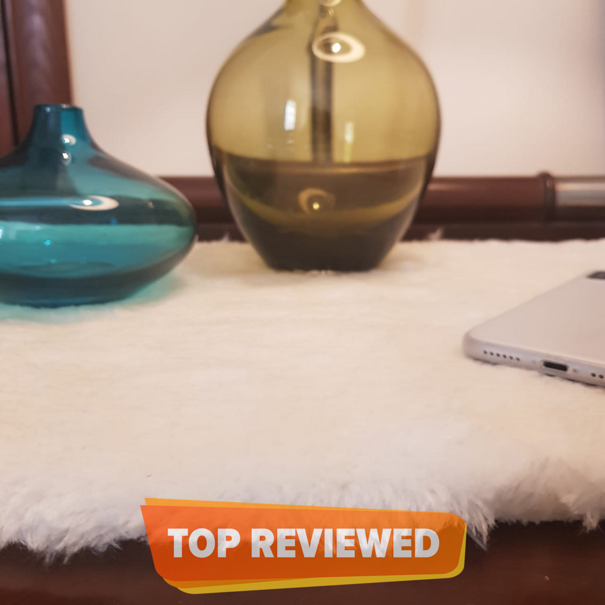 Relaxsit Soft Fluffy Shaggy bed side table mats, Room Decor mats , coffee table or sofa arms pads Size 33 x 50cm